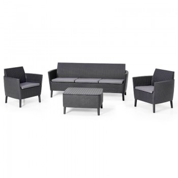 Salemo 3 Seater Set (графит)
