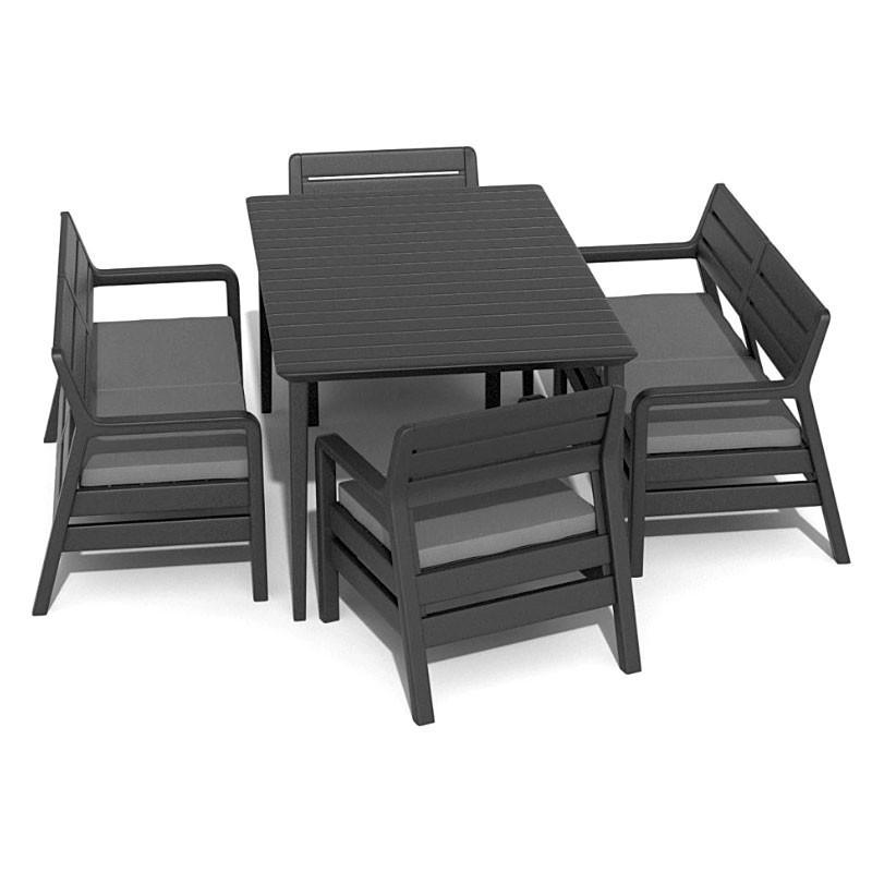 Delano Set With Lima Table 160 (графит)