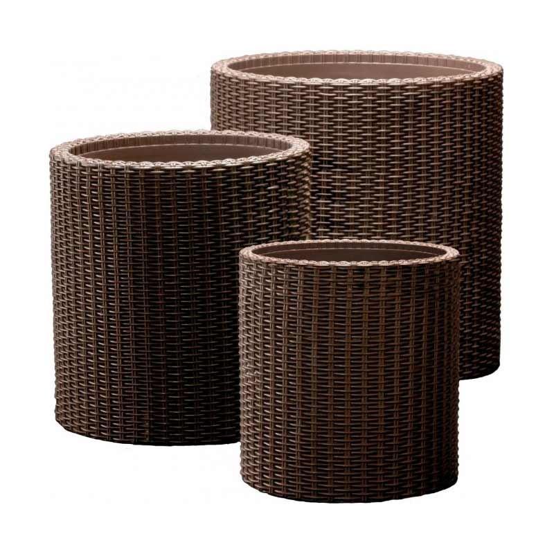 Cylinder Planters Set S+M+L (коричневый)