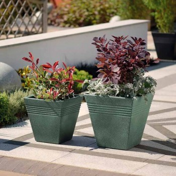 Piazza Square Planter 34 cm (мраморный зеленый) SAP 239108